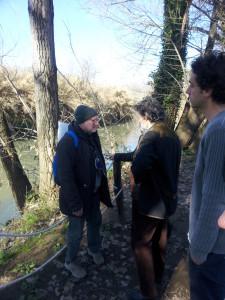 il gruppo ha raggiunto a piedi la sponda del fiume Aniene nella Riserva Naturale
